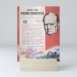Reprint of Winston Churchill British wartime poster. Mini Art Print
