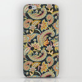 Nomad Paisley - Charcoal iPhone Skin