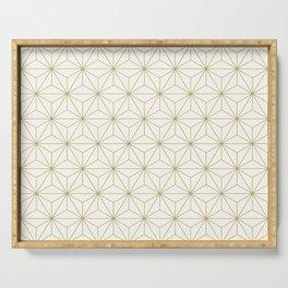 Geometric Stars pattern gold Serving Tray