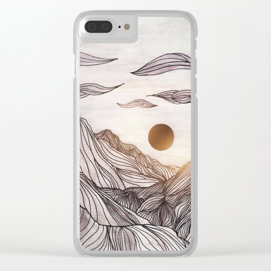 Lines in the mountains Clear iPhone Case