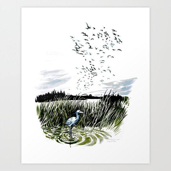Dream of the Chicago wetlands. Art Print