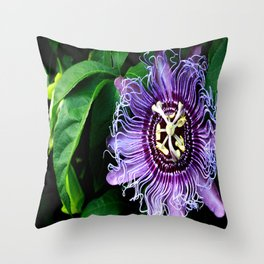 Cote d'Azur Blossom Throw Pillow