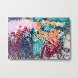 Vibrant Floral Art Metal Print