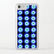 Evil Eye Talisman - on black Clear iPhone Case