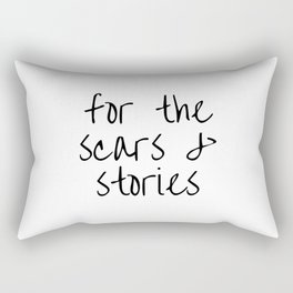 "FOB lyrics ""for the scars and stories"" Rectangular Pillow"