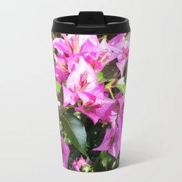 Purple Pink Bougainvillia In Blossom  Travel Mug