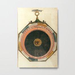 Peter Apian - Astronomicum Caesareum 1540 - Plate 22 Predictions of Eclipses of the Sun and Moon Metal Print