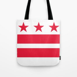 Flag of the District of Columbia - Washington D.C authentic version Tote Bag