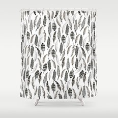 Feather Pattern Shower Curtain