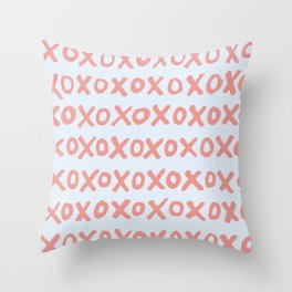 Tic Tac Toe (XOXO) Throw Pillow