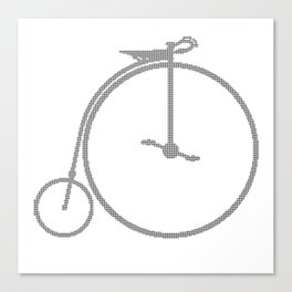Penny Farthing Halftone Canvas Print