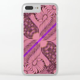 Diagonal Abstract Psychedelic Doodle 2 Clear iPhone Case