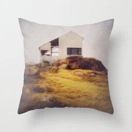 Once Upon a Time an Abandoned House Throw Pillow