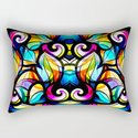 Colorful Abstract Stained Glass Design by artonwear