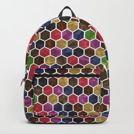 Colorful Hexagon Seamless Pattern Backpack
