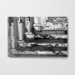 Industrial Pipes Metal Print