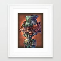 mad hatter Framed Art Prints featuring Mad Hatter by Tim Shumate