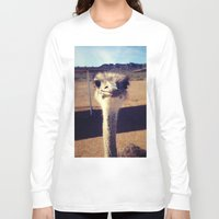 ostrich Long Sleeve T-shirts featuring OSTRICH by Kaitlin Bloom