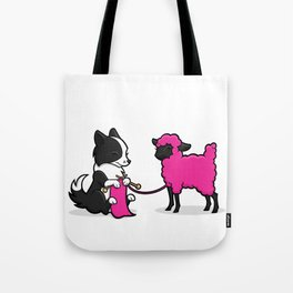 Border Collie Knitting Tote Bag