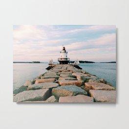 Spring Point Lighthouse Metal Print