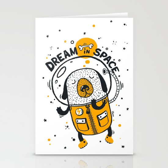 Dream in space Stationery Cards