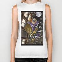 batgirl Biker Tanks featuring Batgirl  by Juliano Sousa