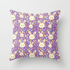 Kawaii Bunny Throw Pillow
