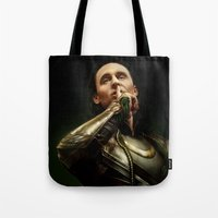 loki Tote Bags featuring Loki by Arkarti