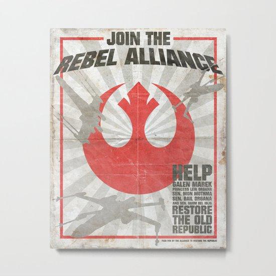 Join the Rebel Alliance Metal Print
