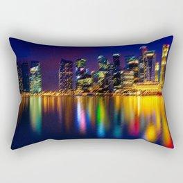 Singapore City Reflections Landscape by Jeanpaul Ferro Rectangular Pillow