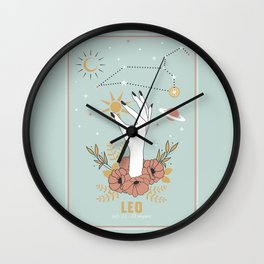 Leo Zodiac Series Wall Clock