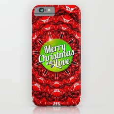 Merry Christmas with Love iPhone 6s Slim Case