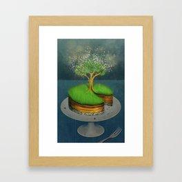 Earth Day Cake Framed Art Print