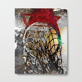 Basketball art swoosh vs 9 Metal Print