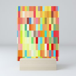 colorful rectangle grid Mini Art Print