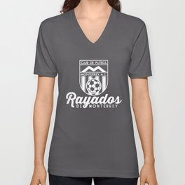 Rayados De Monterrey Mexico Retro 86 Futbol Soccer Camiseta Jersey Mexico T-Shirts Unisex V-Neck