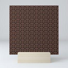 journalier leopard #rockyroad #sugaralmond Mini Art Print