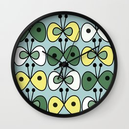 simply butterfly pattern Wall Clock