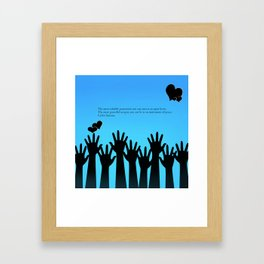 Peace on earth Framed Art Print