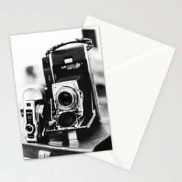 Classic Kodak camera | Photography market in Florence, Italy | Tuscany travel photography, black and white art print Stationery Cards