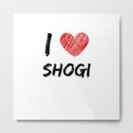 I Love Shogi Metal Print