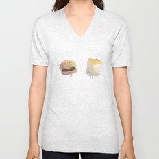 Burger and fries Unisex V-Neck