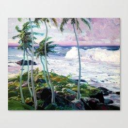 Vintage Tropical Palm Tree Art Canvas Print