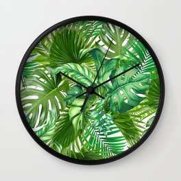 green tropic Wall Clock
