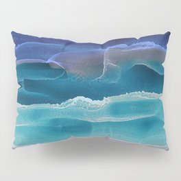 Alcohol Ink Seascape 3 - Sea at Night Pillow Sham