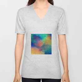 Reflecting Multi Colorful Abstract Prisms Design Unisex V-Neck