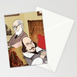 Freud analysing Shakespeare Stationery Cards