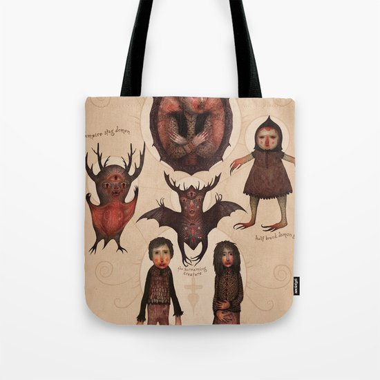 Monsters of the Doomed Village Tote Bag