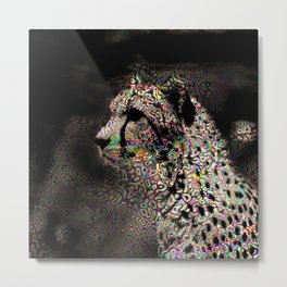 Abstract Animal - Cheetah Metal Print