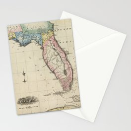 Vintage Map of Florida (1823) Stationery Cards